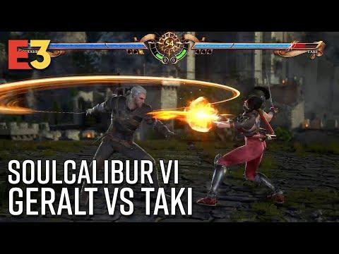SoulCalibur VI Gameplay - Geralt v Taki | E3 2018