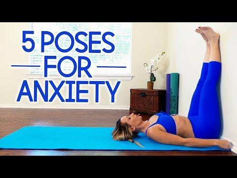 The 5 Best Yoga Poses for Anxiety with Becca ♥ Stress Relief, Back Pain, Relaxation