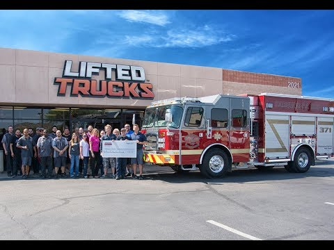LIFTED TRUCKS RAISING MONEY FOR THE NATIONAL FALLEN FIREFIGHTERS FOUNDATION