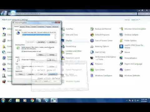 how to delete your internet temporary files  and cookies and history !simple steps