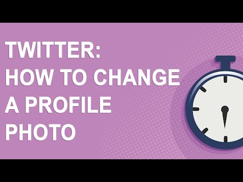 Twitter: How to change a profile photo (2016)