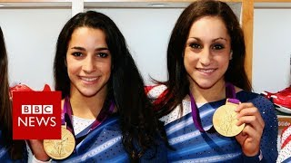 Gold medallists face their abuser - BBC News