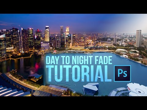 DAY TO NIGHT fade photoshop tutorial