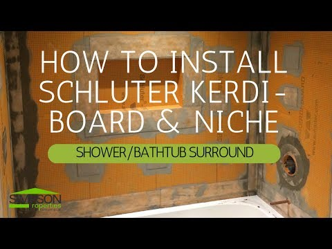 HOW TO INSTALL KERDI-BOARD OVER FRAMING IN A BATHTUB SURROUND APPLICATION