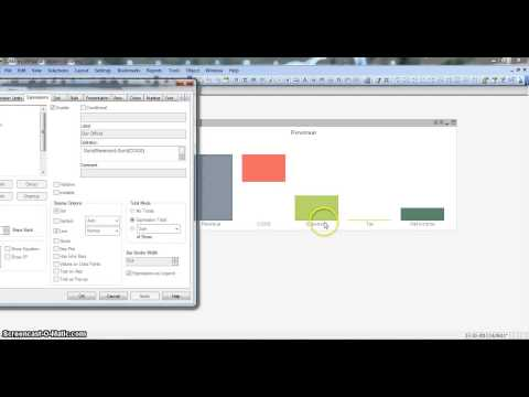 QlikView Tutorial | QlikView Charts | QlikView Waterfall chart