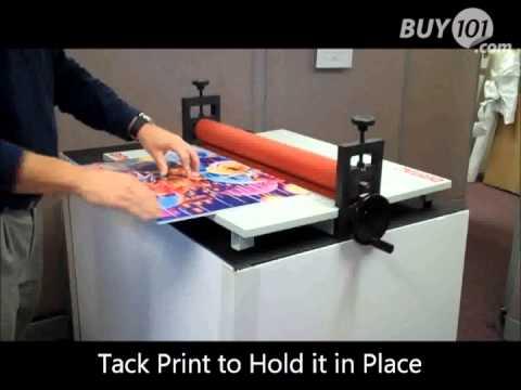How to Mount a Print to Foam Board with the Polar Cub & Self-Stick Foam Board