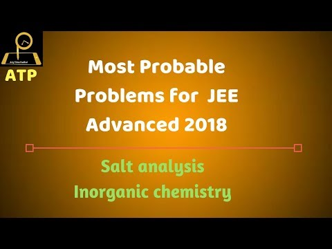 Most Probable Problems for JEE Advanced - Salt Analysis
