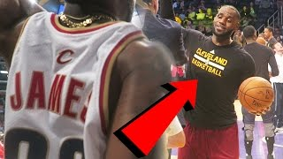 YELLING AT LEBRON JAMES BEHIND THE LAKERS BENCH! Cavs Vs Lakers Game