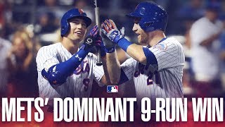 Mets score 9 on 11 hits on emotional day in NYC