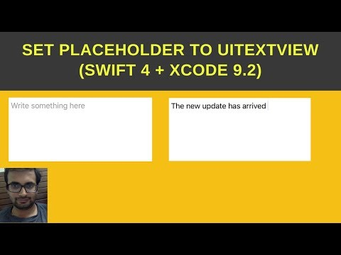 Swift tutorial - How to set placeholder to UItextView