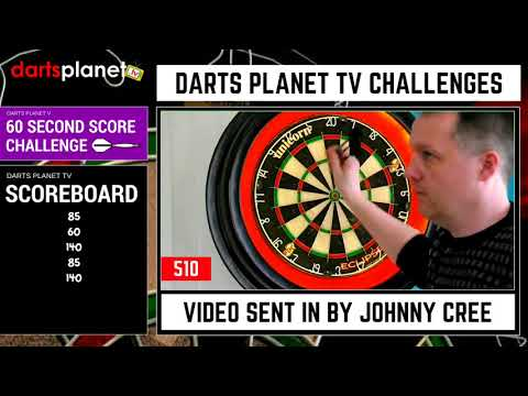 60 SECOND DARTS SCORE CHALLENGE BY JOHNNY CREE - WOW - MUST WATCH T