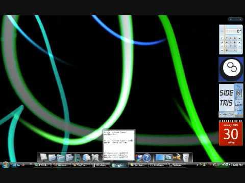 Vista Screen Saver As Wallpaper