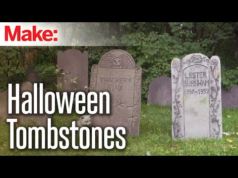 DIY Foam Tombstones