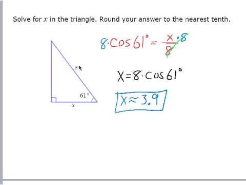 Find Missing Sides using Trig