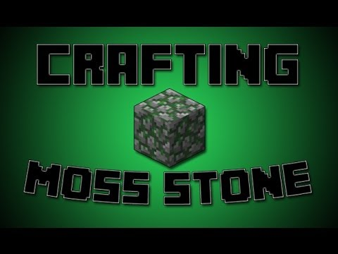 How To Make Moss Stone in Minecraft 1.8 Crafting Recipe Turorial (Mossy Cobblestone)