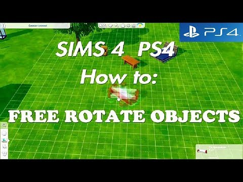 Sims 4 PS4 (console)  FREE ROTATION Tutorial