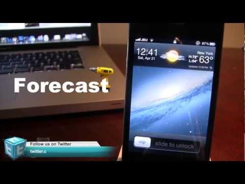 Forecast - Weather on iPhone Lock Screen (Cydia Tweak)