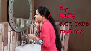 My daily complete skin care routine -face mask, face gel ,cream for glowing skin / SKIN CARE ROUTINE