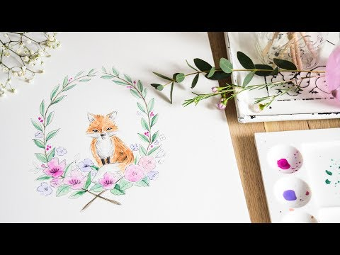 How To Paint Animals in Watercolor | Springtime Fox