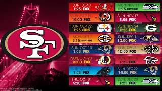 San Francisco 49ers 2019 NFL Schedule Predictions/Outcomes