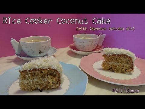 Easy & Simple Coconut Cake - Ollie Umma (Hotcake Mix)