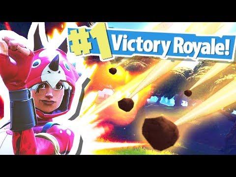 METEOR SHOWER HITS VICTORY ROYALE!!! (Fortnite Battle Royale)