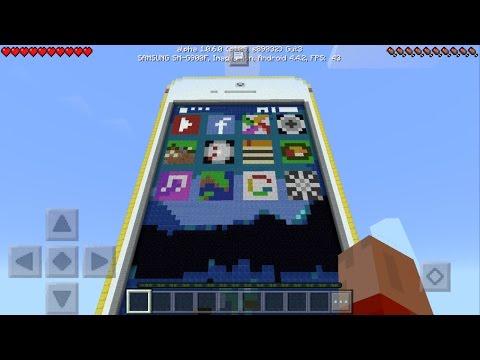 Working iPhone in Minecraft Pocket Edition 1.0.6!!!