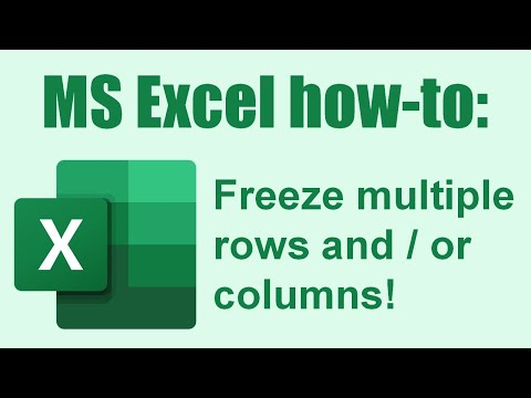 How To Freeze Multiple Rows And Or Columns Excel Tips 6