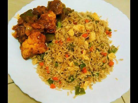 കേരള ഫ്രൈഡ് റൈസ് | How to make egg fried rice/quick and easy kerala style spicy egg fried rice