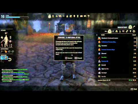 How To Convert Equipment to Imperial Style in Elder Scrolls Online [HD]