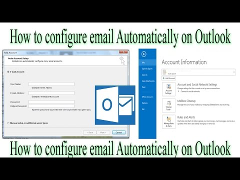 How Configure email automatically on outlook