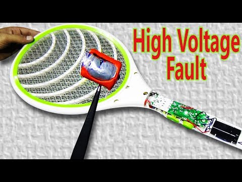 How To Repair Mosquito Racket/Bat  (High Voltage Fault) - 100% Works