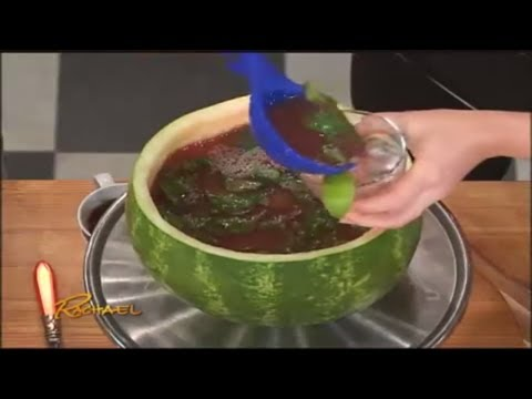 Watermelon Punch Bowl with Watermelon Mojito