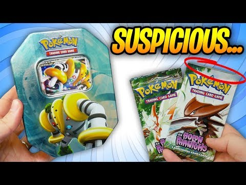 Opening a Vintage Pokemon Tin Regigigas Lv.X! Suspicious packs from ebay = SCAM!