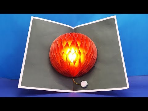 DIY Flower Pop up Card using LED - Make Pop Up Card Easy - Paper Crafts