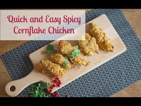Quick And Easy Spicy CornFlake Chicken