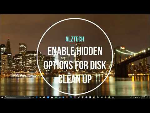Hidden Options for Disk Cleanup