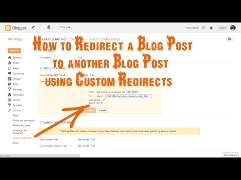 How to create a Custom Redirect for a Blog Post in Blogger?