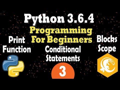 Python 3 Print Function - Blocks & Scope - Conditional Statement | Programming Tutorial