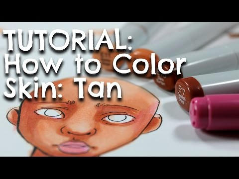 TUTORIAL: How to Color Skin: TAN
