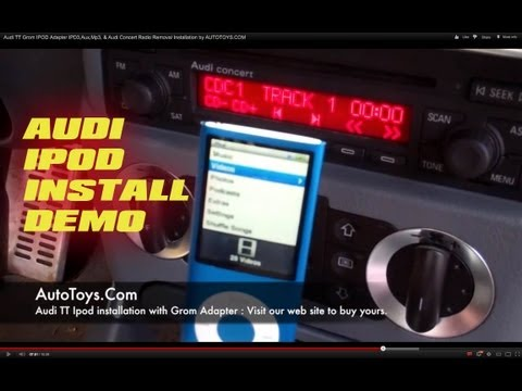 Audi TT Grom IPOD Adapter IPD3,Aux,Mp3, & Audi Concert Radio Removal Installation by AUTOTOYS.COM