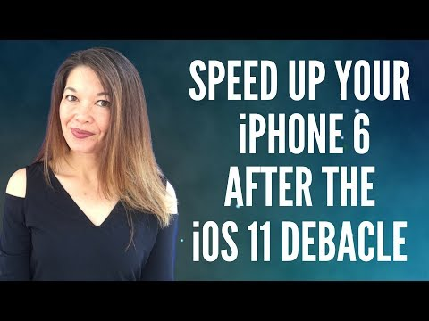 Speed Up Your iPhone 6 After the iOS11 Debacle
