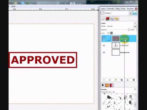GIMP - making a grunge-looking stamp