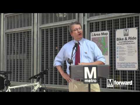 College Park-U of MD Bike & Ride Ribbon Cutting | WMATA