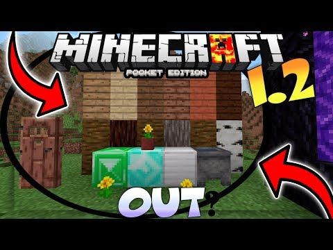 MCPE 1.2 OUT!? - MINECRAFT PE 1.2 OFFICIAL LEAKED GAMEPLAY / CONCEPT - MCPE 1.2 ADDON