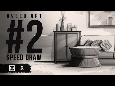 Speed Drawing in Photoshop -  Basics to storyboard background | Part   2