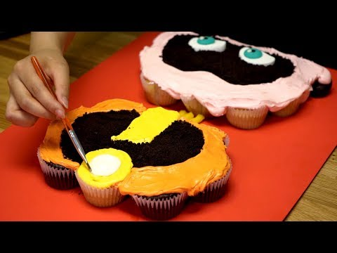 Making Incredibles 2 Cake With Cupcakes | Chocolate Cake Decorating Tutorial | DIY Giant Cake