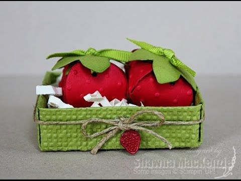 Strawberry box - candy box - gift box. Easy - NO TEMPLATES