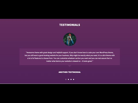 How to use Illdy testimonials section on font page  (Jetpack)