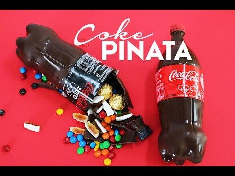 Candy COKE Piñata - Simple No Bake Soda